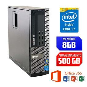 Desktop Dell Intel Core I7 Hd 500gb Maquina Top