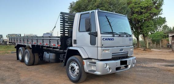 Ford Cargo 2422 Truck 6x2 Com Carroceria Aberta