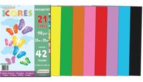 Bloco Para Educacao Artistica 21 Cores.110g.42f.235x325mm