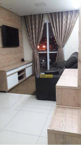 Imagem 1 de 14 de Apartamento Com 3 Dormitórios À Venda, 57 M² Por R$ 330.000,00 - Jardim Irajá - São Bernardo Do Campo/sp - Ap0758