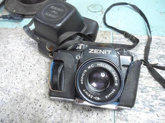 Máquina Fotográfica Zenit 122 Com Capa E Lente