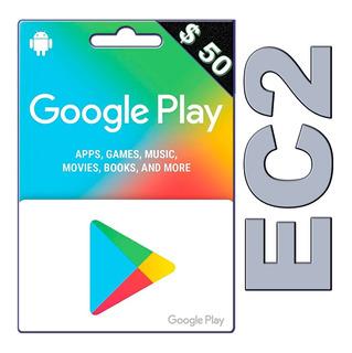 Tarjeta Google Play Store Codigo Us $50 Free Fire, Pubg Ec2