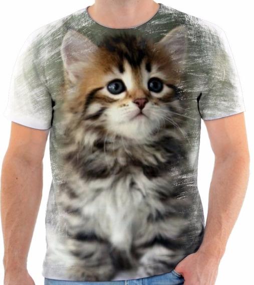 Camisa Camiseta Blusa Gato Gata Cat Animal Felino Miau 2