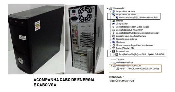 Usados - Computador Memória Ham 4gb Nvidia Gforce 7050
