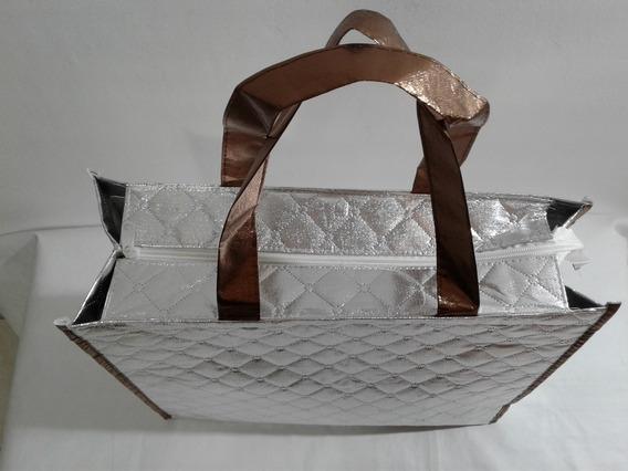 Bolsa Feminina Plástico Trabalhada Multiuso Medico Kit C/05