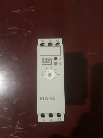 Relé Temporizador Retardado Weg Rtw - Re 1 -10s