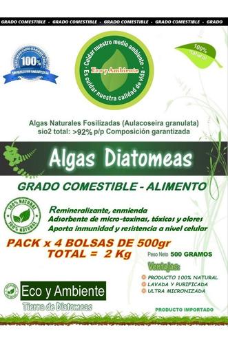 Diatomeas Grado Comestible Micronizadas + Certificado X 2kg
