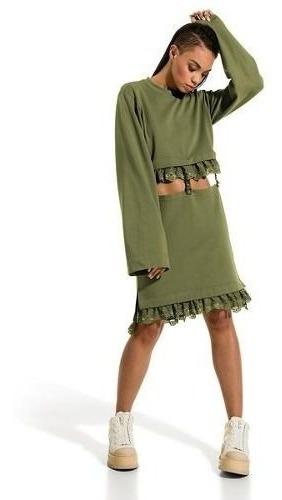 Vestido Puma By Rihanna Linha Fenty 3 Em 1 Cropped E Saia