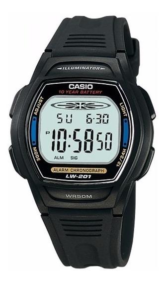 Relogio Casio Lw-201 2 Cronômetro Alarme Wr-50