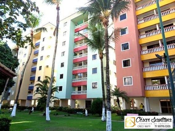 Apartamento 2/4 Com Varanda Mobiliado - Jardim Botânico - Lauro De Freritas - Ap00804 - 34385647