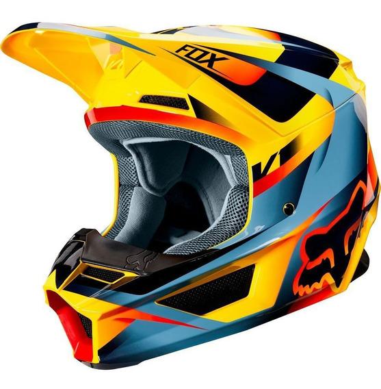 Capacete Fox V1 Mvrs Motif Motocross Trilha Lancamento