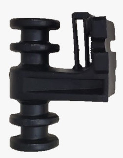 Isolador Plástico Fibra Óptica 4 Vias C/supo 50 Unid- Preto