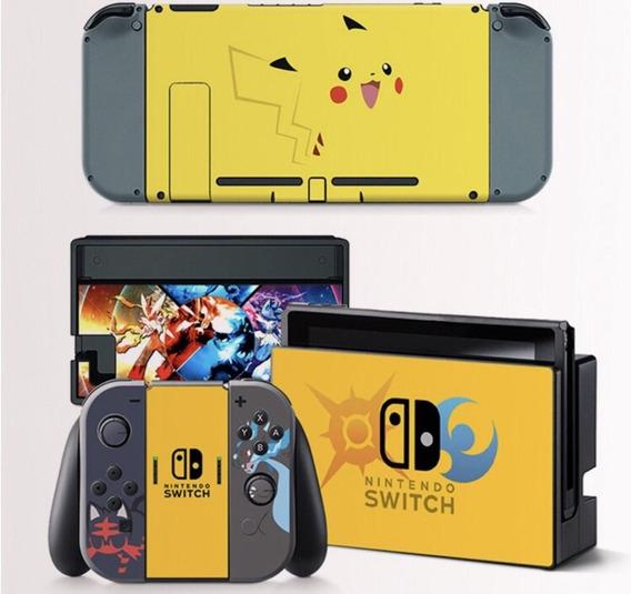 Adesivo Para Nitendo Switch Pikachu Zelda Mario