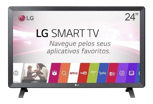 Imagem 1 de 4 de Smart Tv Monitor LG 24 Led Wi-fi Webos 3.5 Dtv Time Machine