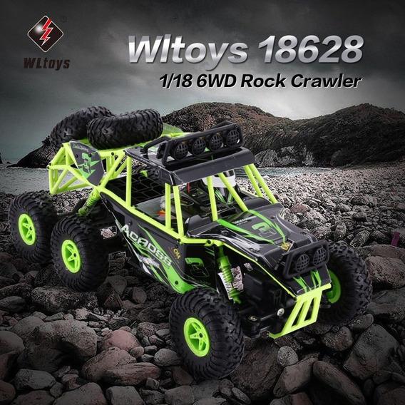 Automodelo Wltoys 18628 1:18 6wd Rc Escalada Rtr Verde 6x6