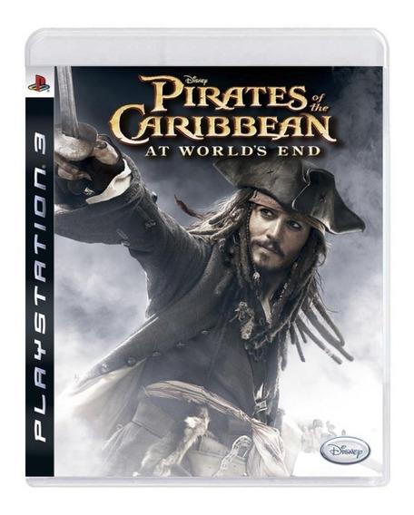 Jogo Ps3 Pirates Of The Caribbean Original Usado Mídia Físic