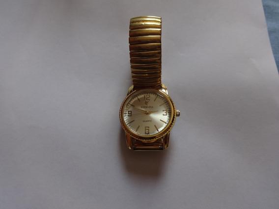 Relógio De Pulso Potenzia Dourado Quartzo