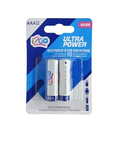 Imagem 1 de 2 de Pilhas Ultra Power Aaa I2go Branco