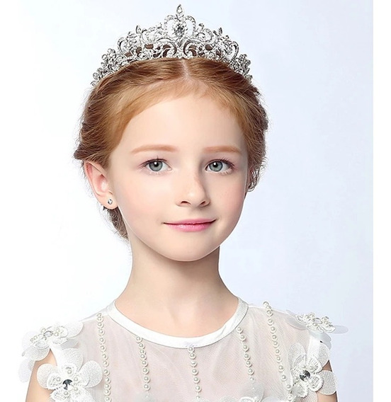 Coroa Infantil Tiara Criança Noiva Miss Princesa Acessórios