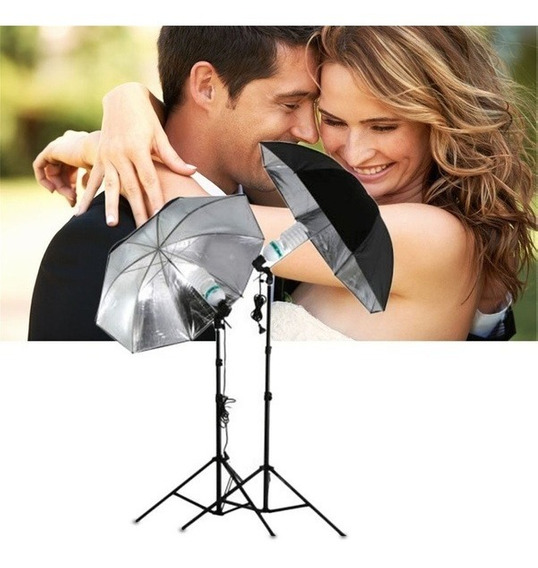 83cm Studio Flash Light Grained Black Silver Umbrella Reflec