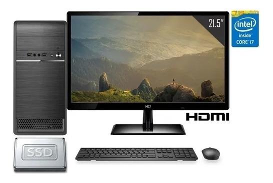 Computador Completo World Pc + Monitor Hqscreen Led 21,5.