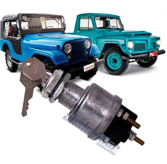 Cilindro Miolo Ignição Com Comutador Jeep Rural F75 Willys