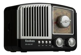 Rádio Retro Vintage Am Fm Com Bluetooth Usb Recarregavel Aux