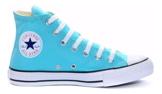 Converse All Star Core Hi Bota Azul Turqueza Reisreplicas