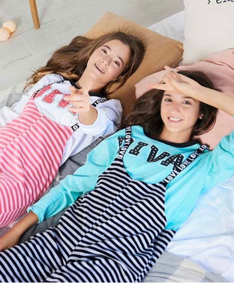 Pijama Enterito Diva Tutta La Frutta 473-19 Hueso Y Verde