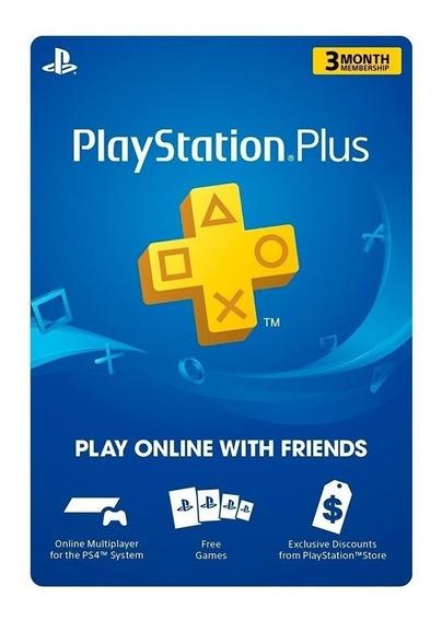 Tarjeta De Suscripción Play Station Ps4 Plus 3 Meses