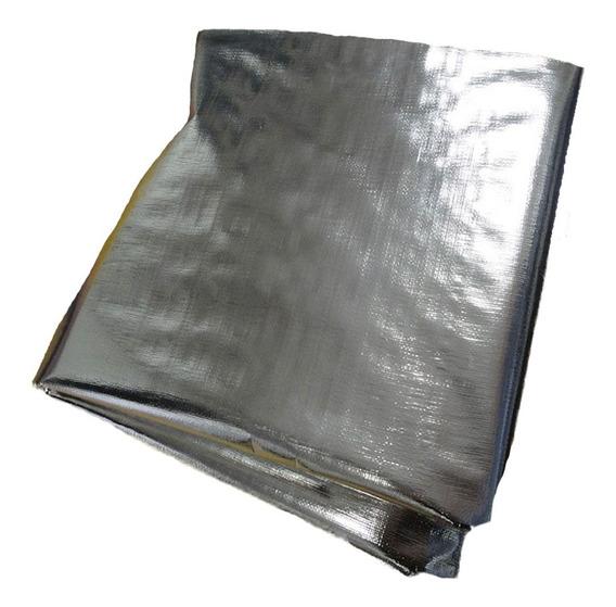 Lona 15x2 Mts Para Estufa Grow Indoor Metalizado Refletivo