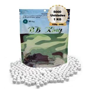 Bolinhas Airsoft Bbs King 0.20g 6mm Com 5000 Unidades - Envio Full Imediato - Nota Fiscal Eletrônica