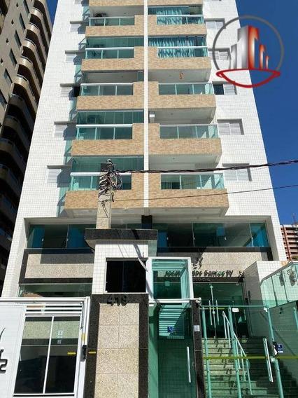 Ótimo Apartamento De 1 Dormitório E Uma Linda Vista À Venda Por R$ 210.000 - Vila Tupi - Praia Grande/sp - Ap1898
