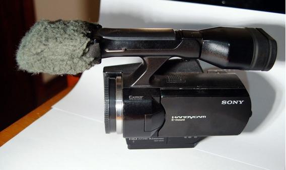 Corpo Sony Nex Vg10 Seminova Com Sapata De Tripé Reforçada