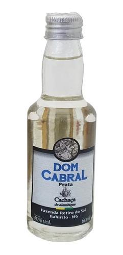 Mini Cachaça Dom Cabral 60ml Original Prata