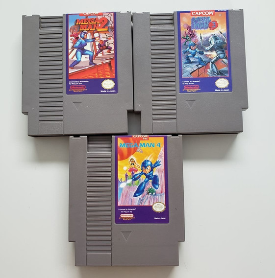 Lote Mega Man 2, 3, 4 Original Nes