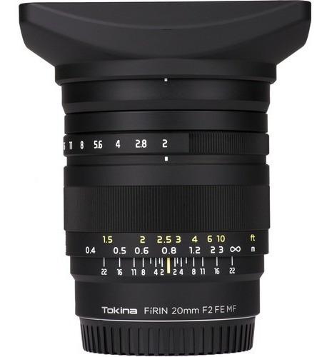 Lente Tokina Firin 20mm F 2 Fe Mf Para Sony E