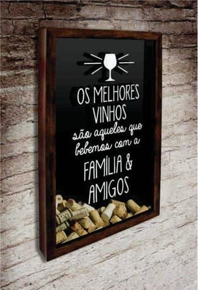 Pt02-quadro Porta Rolhas Os Melhores Vinhos