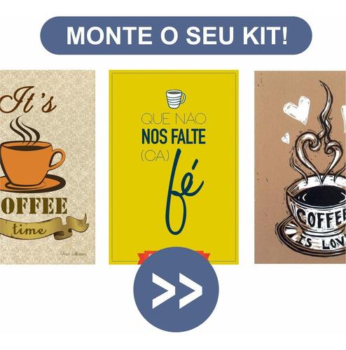 Café Quadro Decorativo Parede Perfeito Para Presentes