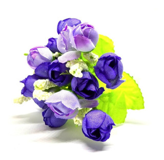 Ramo Novia Barato Artificial Flores Pimpollos 24cm 30u