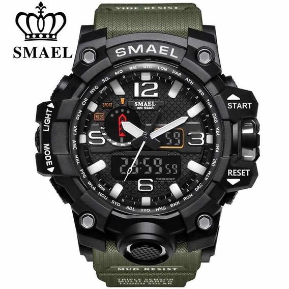 Relógio Militar Masculino Shock Digital Smael 1545