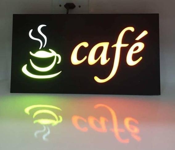 Letreiro Led Café