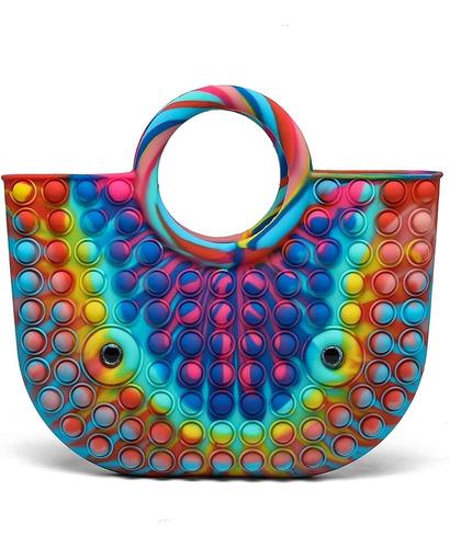 Imagen 1 de 7 de Pop It Fidget Brinquedos Bolsas E Scolas Bolsas Carteira