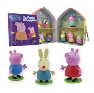 Clarín Colección La Casa De Peppa Pig + 12 Muñecos Oficiales