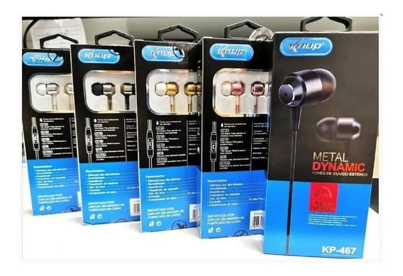 Kit Fone Knup De Ouvido Intra Auricular Com Microfone