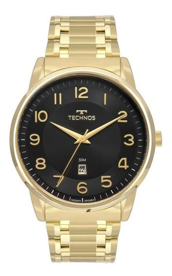 Relógio Masculino Technos Steel 2117lbh/4p Dourado