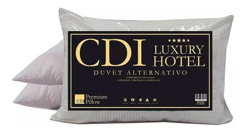 Imagen 1 de 6 de Almohada Simil Duvet Cdi Hotel 70x50cm Cuotas