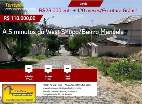 Terreno Para Venda Em Rio De Janeiro, Campo Grande - Mo110