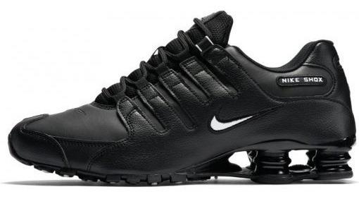 Tênis Nike Shox Preto Couro