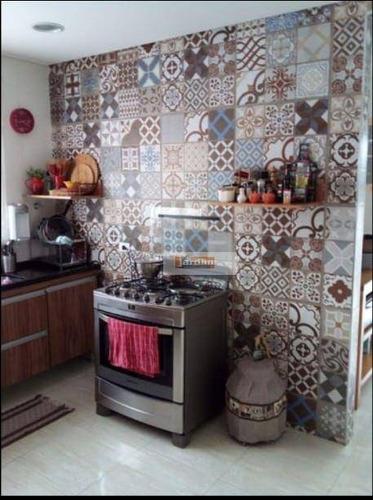 Imagem 1 de 10 de Sobrado Com 3 Dormitórios À Venda, 150 M² - Jardim Borborema - São Bernardo Do Campo/sp - So2897